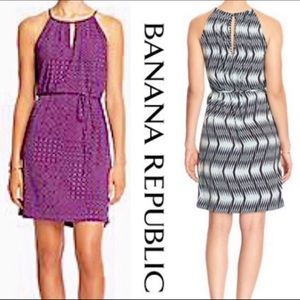 Banana Republic Dress PM PETITE MEDIUM BLUE PINK